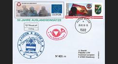 """EUFOR10-1 : 2010 FDC Autriche AUCON-EUFOR """"50 ans d'engagement militaire à l'étranger"""""""