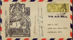 "13ZRS4-01 : Enveloppe USA ""Crash du Dirigeable USS AKRON"" signée"