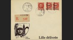 """13W2-FR04 : 1944 - Enveloppe patriotique RECO """"de Gaulle"""