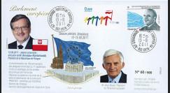 "PE606 : 2011 - FDC Parlement européen ""Visite M. KOMOROWSKI"