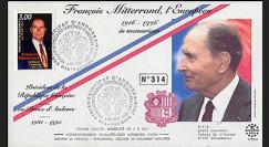 PE333 : 1997 - 1er Jour TP hommage à Mitterrand - Andorre