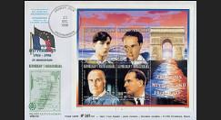 PE333SP : 1996 - 1er Jour bloc feuillet François Mitterrand - Madagascar