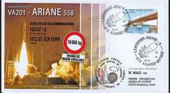 "VA201L-T2 : 2011 - FDC Kourou ""Vol 201 Ariane - Sat. YAHSAT-1A & INTELSAT NEW DAWN"" (TYPE 2)"