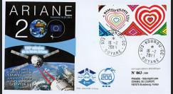 "V200L-T1 : 2011 - FDC Kourou ""Vol 200 Ariane - Véhicule Cargo KEPLER"" (TYPE 1)"