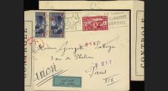 W2-LIB0148 : 1944 - Pli Avion LIBAN Censure Postale Forces Françaises Libres