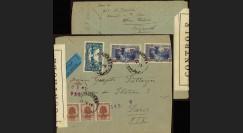 W2-LIB0149 : 1945 - Pli Avion LIBAN Censure Postale Forces Françaises Libres