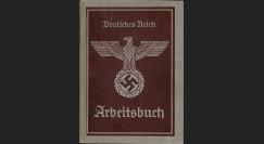"W2-AL0245 : 1937 - ARBEITSBUCH IIIe Reich ""Aigle Nazi sur croix gammée"""