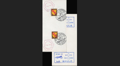 """AV-0128 : 1947 - Fragment de Lettre FRANCE """"Epreuve Aérienne TOUR DU CADRAN"""""""