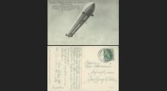 """ZP-0102 : 1908 - CP ALLEMAGNE """"Nouveau Dirigeable Zeppelin LZ4 dans le ciel"""""""