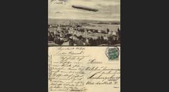 """ZP-0106 : 1913 - CP ALLEMAGNE """"Dirigeable Zeppelin LZ4 survolant Constance et son Lac"""""""