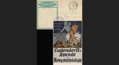 """W1-AL0112B : 1918 - CP ALLEMAGNE """"Campagne de Dons pour les Mutilés de Guerre"""""""