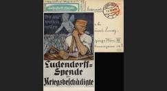"""W1-AL0112D : 1918 - CP ALLEMAGNE """"Campagne de Dons pour les Mutilés de Guerre"""""""