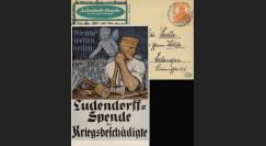 """W1-AL0112E : 1918 - CP ALLEMAGNE """"Campagne de Dons pour les Mutilés de Guerre"""""""
