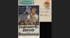 """W1-AL0112C : 1918 - CP ALLEMAGNE """"Campagne de Dons pour les Mutilés de Guerre"""""""