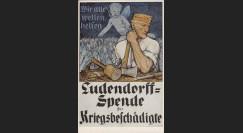 """W1-AL0112F : 1918 - CP ALLEMAGNE """"Campagne de Dons pour les Mutilés de Guerre"""""""