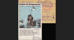 """W1-AL0137 : 1918 - CP ALLEMAGNE """"Emprunt de Guerre pour les U-Boot"""""""