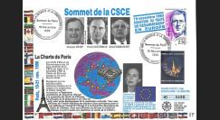 SE51L-T1 : FDC 'Sommet CSCE Paris - Fin de la Guerre Froide / Mitterrand