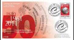 CE62-PJ : 2011 - FDC 1er Jour du timbre de service du Conseil de l'Europe