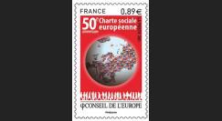 """CE62-PJN : 2011 - TP de service Conseil de l'Europe """"50e anniv. Charte sociale européenne"""""""