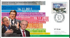 "PE609 : 11.2011 - FDC Parlement européen ""Eurozone - MM. Juncker"