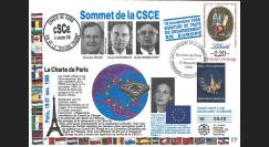 SE51L : FDC 'Sommet CSCE Paris - Fin Guerre Froide / Mitterrand