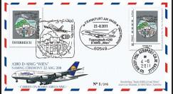 """A380-141 : 2011 - FFC AUTRICHE """"Vol de baptême A380 D-AIMG 'Wien' de la Lufthansa"""""""