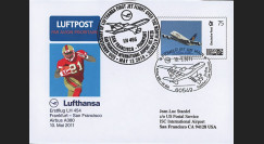 "A380-143 : 2011 FFC ALLEMAGNE ""1er vol régulier A380 Lufthansa Frankfurt-San Francisco"""