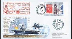 """LYBIE11-2 : 2011 - Pli FRANCE """"Opération Harmattan Libye 2011 - PAN Charles de Gaulle"""""""
