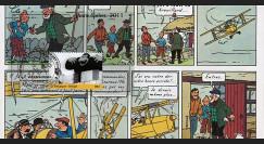 """TIN11PJ-INT3 : 2011 - FDC BELGIQUE """"TINTIN à L'ECRAN - L'Ile Noire"""" Bruxelles (TYPE 3)"""