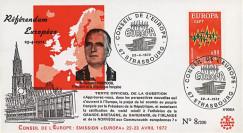 """RD65A T2 : 1972 - FDC """"Référendum européen - Président Pompidou"""""""