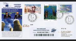 """PE602a : 2011 - FDC Recommandée Parlement européen """"Résultats Conseil européen"""""""