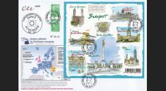 "PE603a : 2011 - FDC Recommandée Parlement européen ""Elargissements Espace Schengen"""