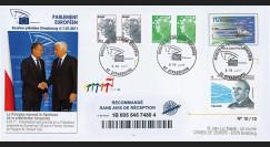 """PE605a : 2011 - FDC Recommandée Parlement européen """"Présidence polonaise de l'UE"""""""