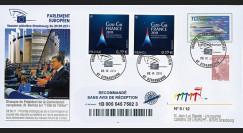 """PE607a : 09.2011 - FDC Recommandée PE """"'Etat de l'Union européenne' par M. Barroso"""""""