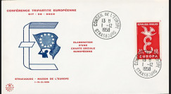 """CH1 : 01.12.1958 - FDC Conseil de l'Europe """"Elaboration d'une Charte Sociale Européenne"""""""