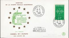 """CH2 : 19.01.1960 - FDC Conseil de l'Europe """"Adoption de la Charte Sociale Européenne"""""""