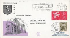 """CH3 : 18.10.1961 - FDC ITALIE """"Signature de la Charte Sociale Européenne à Turin"""""""