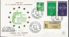 """CH2a : 19.01.1960 - FDC RECO Conseil de l'Europe """"Adoption Charte Sociale Européenne"""""""