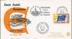 """CH4 : 26.02.1965 - FDC Conseil de l'Europe """"Entrée en vigueur Charte Sociale Européenne"""""""