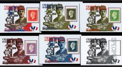 "PADG008V : 2001 - 6 porte-timbres ""Porte-avions de Gaulle - Exercice naval 'Trident d'Or'"""