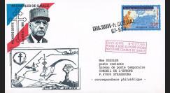 """PADG99-1 : 1999 - FDC postée de l'Agence postale du PAN de Gaulle """"1ère sortie à la mer"""""""