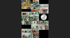 """TIN11-COL2-T7 : 2011 - 5 FDC BELGIQUE """"TINTIN à L'ECRAN"""" oblit Prévente """"Braine-L'Alleud"""""""