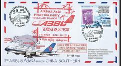 "A380-152 : 2011 - FFC ""Livraison 1er A380 China Southern et 1er vol Beijing-Guangzhou"""