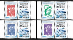 "A380-154PT1-4 : 2011 - Série 4 porte-timbres ""Livraison 1er A380 China Southern Airlines"""
