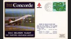 """CO76-1-14BAC : 1976 - FFC ROYAUME-UNI à bord """"Concorde - Vol de Livraison Concorde 206 G-BOAA"""""""