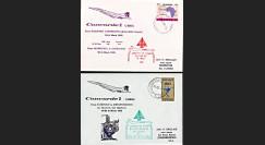 "CO76-3-24S : 1976 - Série 2 FFC à bord ""Concorde G-BBDG - Vols d'essais BAC Fairford-Monrovia-Capetown-Johannesburg"""
