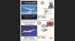 "CO77-11-2BA : 1977 - Série 2 FFC à bord ""Concorde - 1er Vol Londres-Barbade - Vol Royal"""