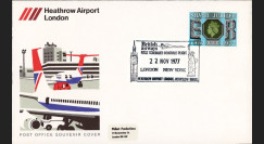 "CO77-11-22H2 : 1977 - FFC ROYAUME-UNI Heathrow ""Concorde - 1er Vol Londres-New York"""