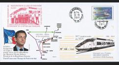 """PE614 : 2011 - PAP TGV """"Inauguration de la Ligne LGV Rhin-Rhône - M. SARKOZY"""