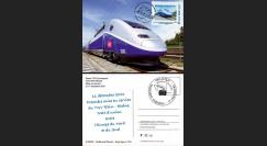 "TGV11-2C : 2011 - Carte Maximum ""1ère Mise en Service TGV Rhin-Rhône - Besançon"""